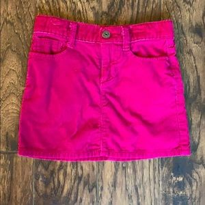 Girls size 6 pink corduroy skirt